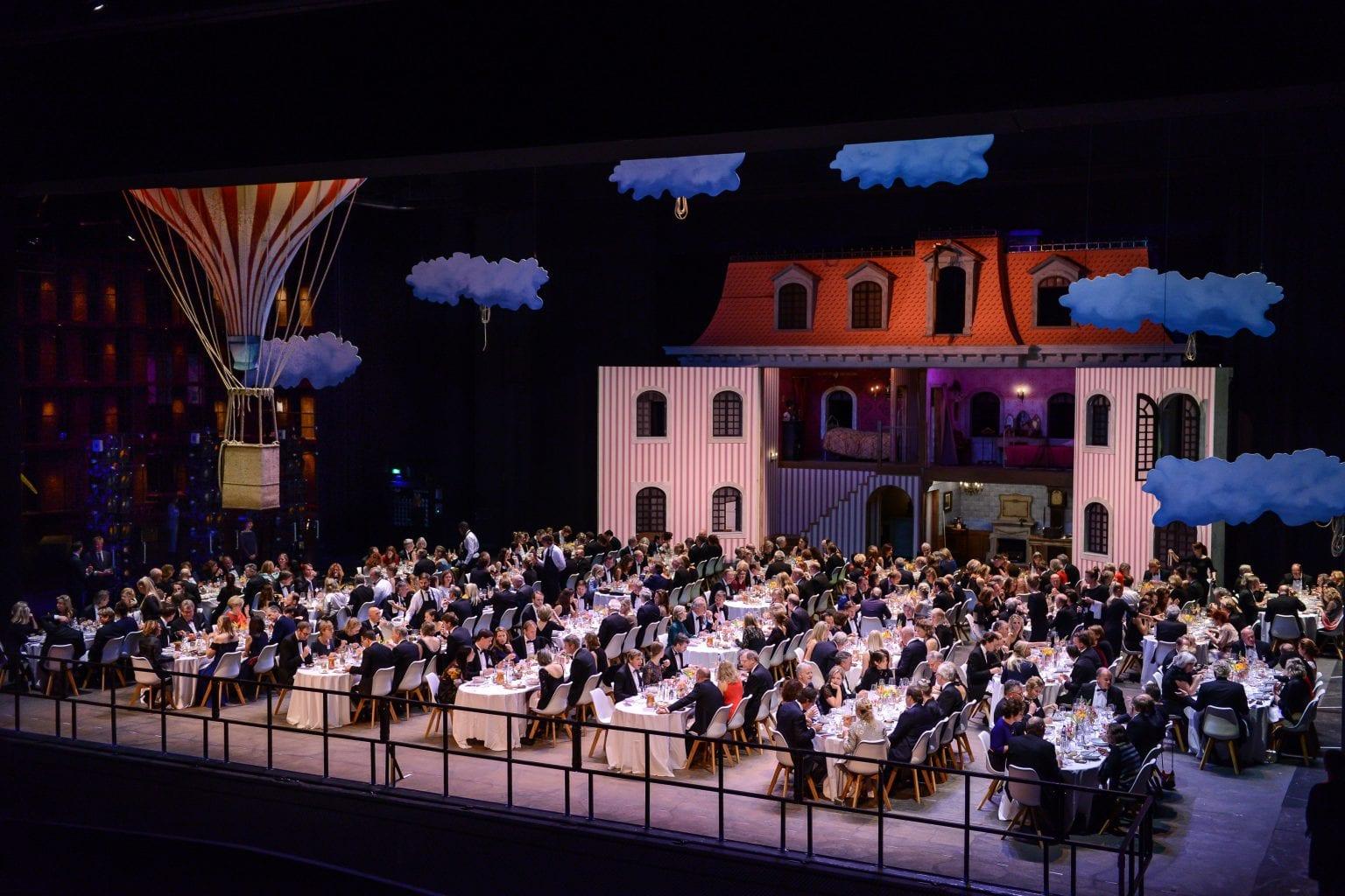 Dinner on stage